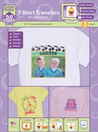 Purple Chimp T-Shirt Transfers for Light Colors Packaging by June Tailor